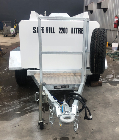 HOST Refueling SBT Trailer - 2,200L Front Hitch View